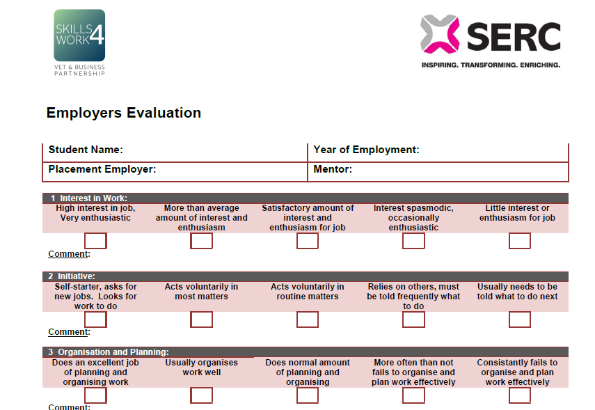 Employers Evaluation