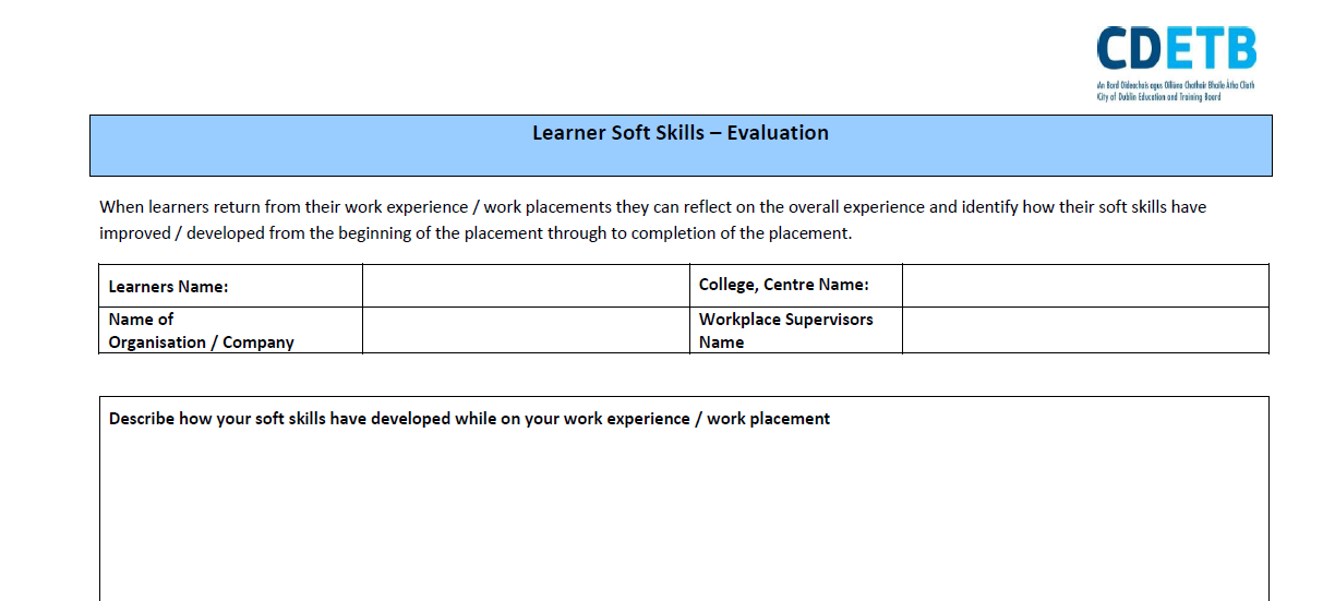Learner Soft Skills - Evaluation