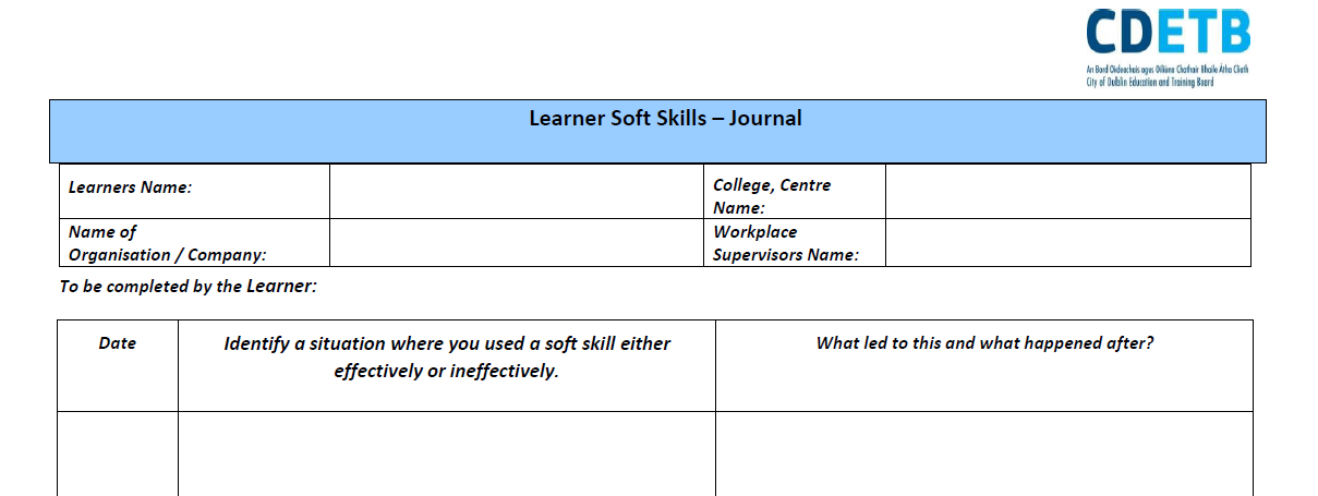 Learner Soft Skills - Journal