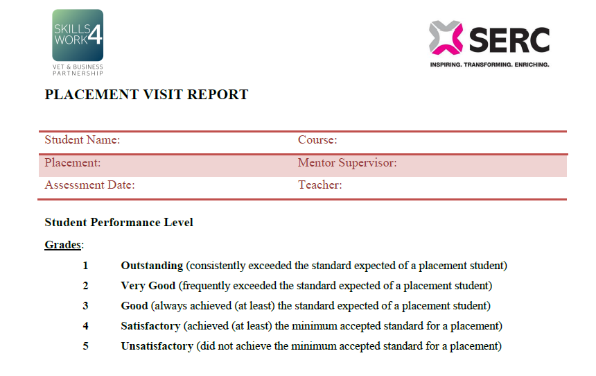 Placement Visit Report